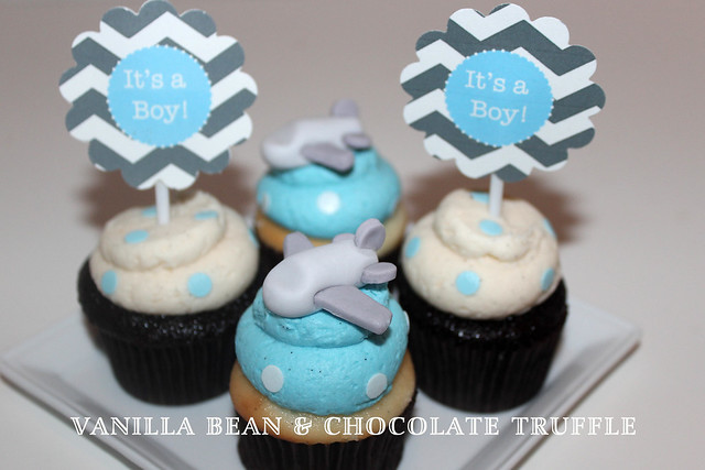 boy baby shower cupcakes flickr photo sharing
