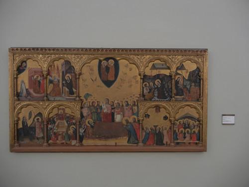 DSCN3285 _ Polittico con la Dormitio  Virginis e l'Incoronazione della Vergine, Pseudo Jacopino,  1330-35