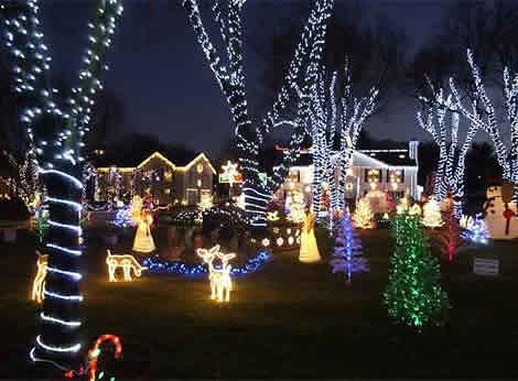 Ideas para decorar con luces de navidad - Luces para arbol de navidad ...
