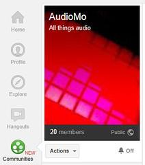 Audiomo on G+