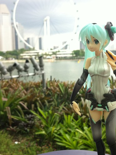 Miku want a ride at Ferry Wheel