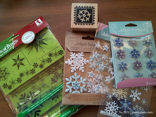 Snowflake stamps and stickers