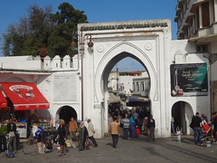 Entrada da medina de Tanger no Norte de Marrocos