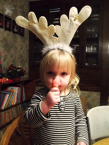 Phoebe the lollipop-nosed reindeer