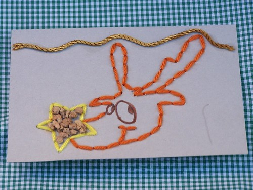 Rudolph Lacing card