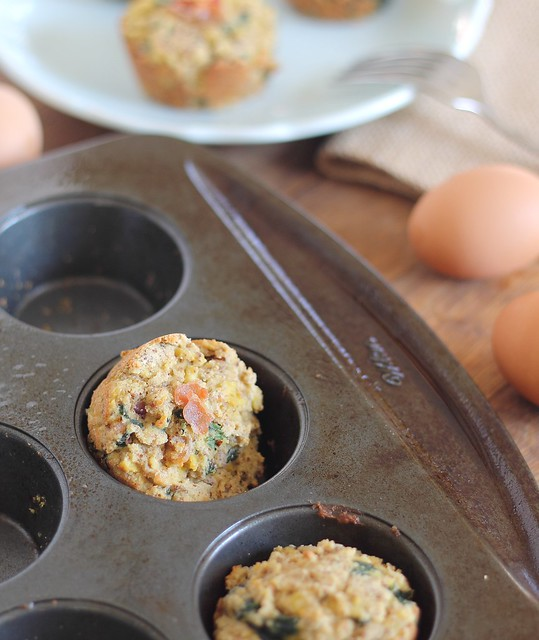 paleo frittata muffins with bacon and spinach