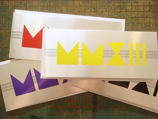 2013 Art Deco letterpress note cards by Greg Walters
