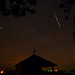 Geminid Meteor and Jupiter by mbryan777