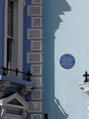 Photo of Sylvia Pankhurst blue plaque