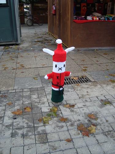 Yarn Bombing - Santa Bunny - KittElisa - Crumbs and Petals