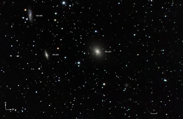 NGC 3557, 3564, 3568