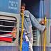 India, Mughalsarai railway station, stationed commuters