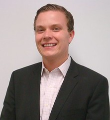 Image of Hakon Bjerke MA '12 during his internship at JP Morgan
