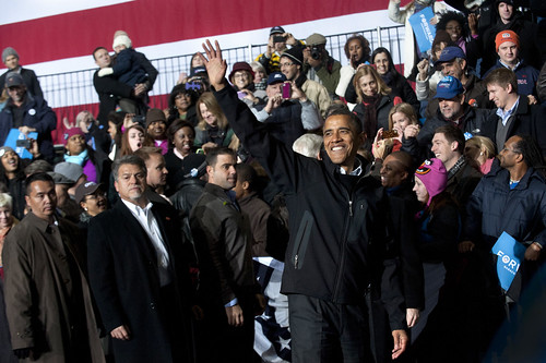 President Obama Greets Supporters in Bristow, Virginia