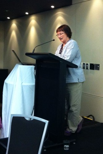 Jackie Hawkes at the PMBW teacher librarians' conference