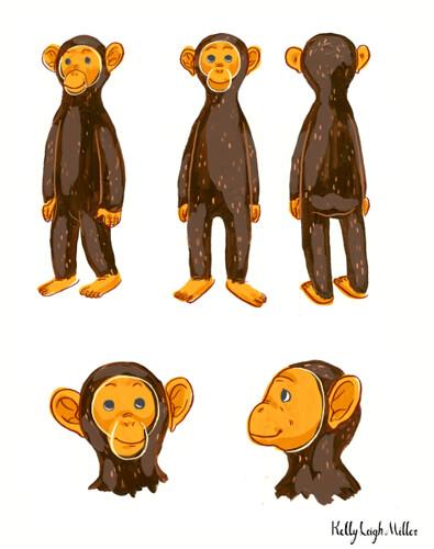 Chimp character design