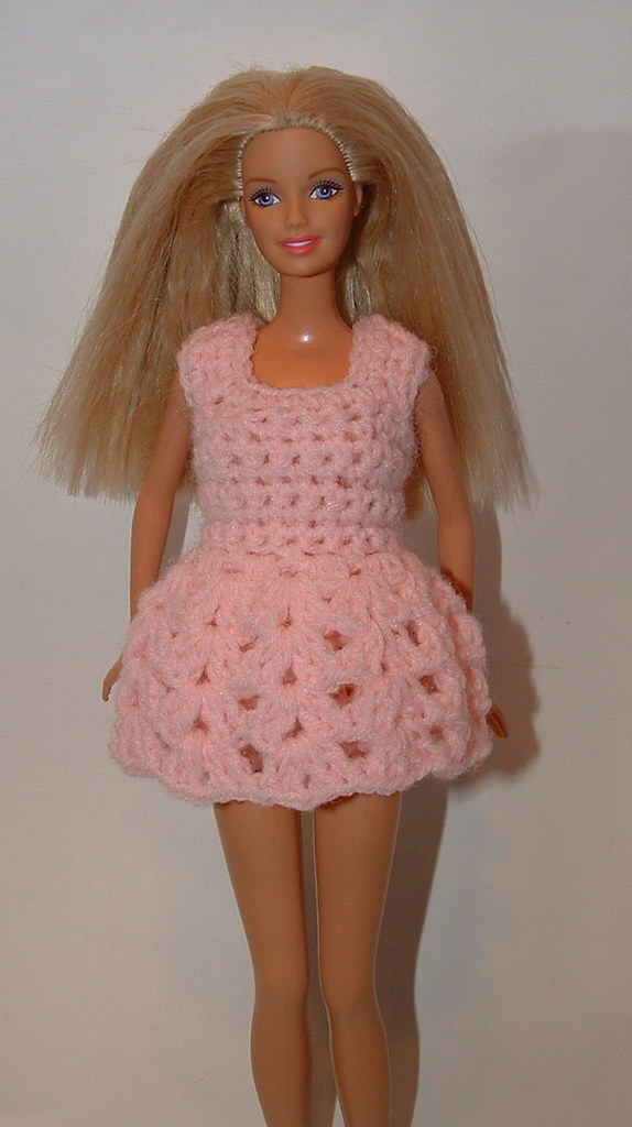 Barbie baby doll top that I crocheted. I added a pair of my Barbie ...