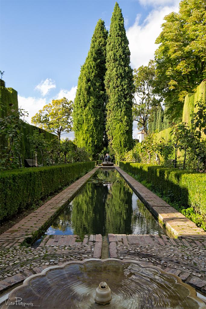 Jardines del generalife la alhambra de granada for Jardines generalife
