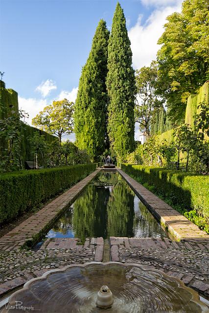 Jardines del generalife la alhambra de granada for Jardines de gomerez granada
