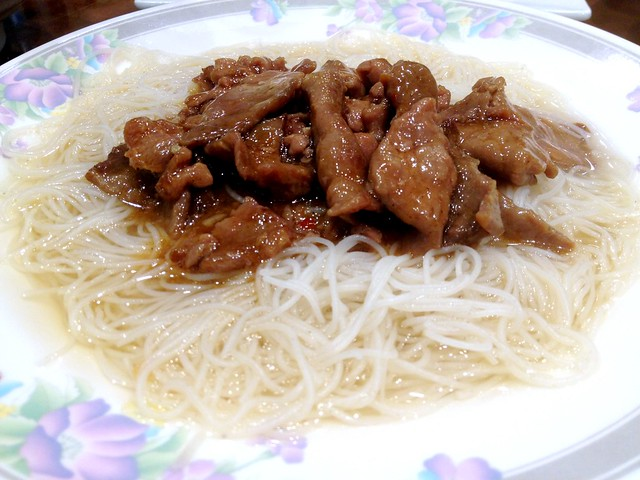Oyster Sauce Beef on Vermicelli