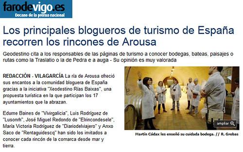 Los principales blogueros de turismo de España recorren los rincones de Arousa