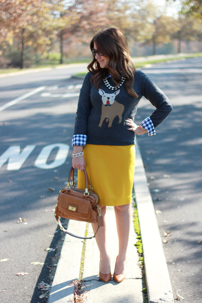 J. Crew Frenchie Sweater Outfit Idea