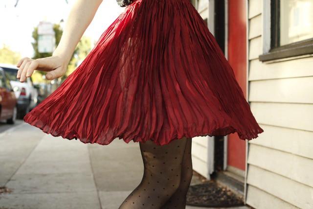 vintage skirt dance