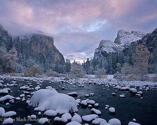 Winter Storm Sunrise, Gates of the Valley (Yosemite)