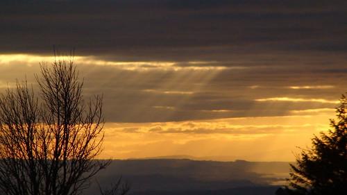 sonnenuntergang landschaft premium endloslinienalpenpanorama