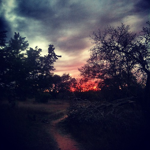 The fiery end of 11.11.11 on lonesome trail...