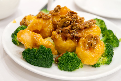 Fried shrimp and nuts