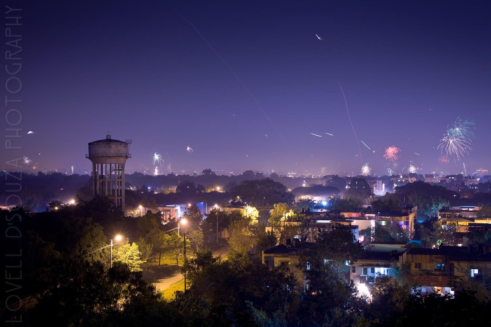 Diwali Cityscape - Hyderabad