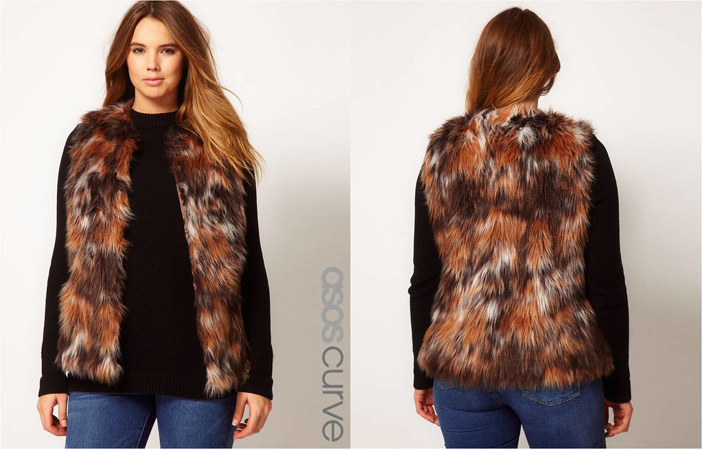 ASOS Curve Exclusive Fur Gilet
