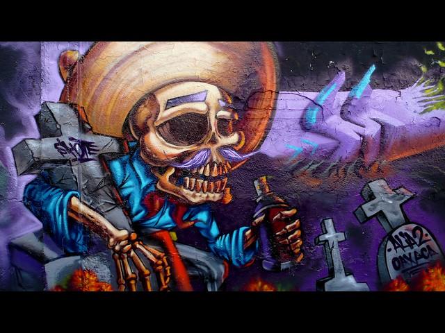Murales en oaxaca dias de los muertos flickr for Dia de los muertos mural