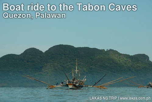 Spider Fishing Boat during the boat trip to the Tabon Caves of Quezon, Palawan