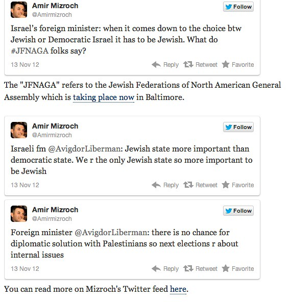 Lieberman tweets