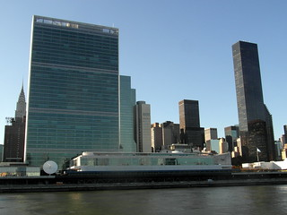 Image of United Nations Headquarters near Long Island City. newyork