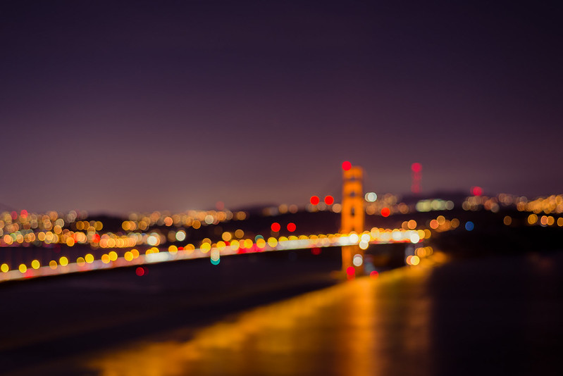 Golden Gate Bridge in Bokeh