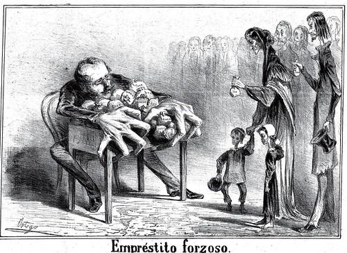 005-Emprestito forzoso- revista Gil Blas 28 Enero 1865-Francisco J. Ortego- Copyright Biblioteca Nacional de España