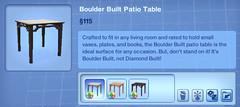 Boulder Built Patio Table