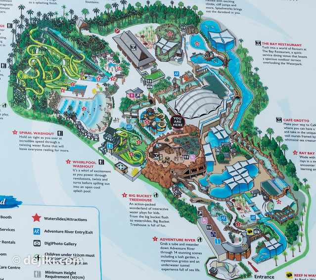 The Island Waterpark Map