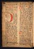 Medieval manuscript pastedown in Hortus sanitatis
