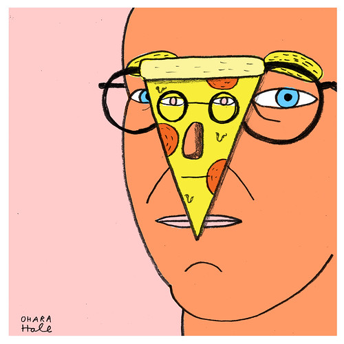 Saul Steinberg portrait by Ohara.Hale