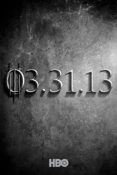 Game of Thrones season 3 teaser trailer y poster