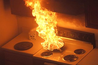 Holiday fire safety - Unattended cooking on stove leads to a fire