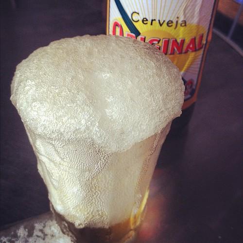 Ice cold #cold #beer #cerveja #original #antarctica #froth #foam #head #frio #gelada #gelateriaitalia #sampa #saopaulo #drink