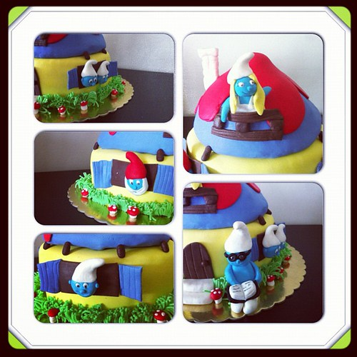 #smurfhousecake #sirinlerevipastasi by l'atelier de ronitte