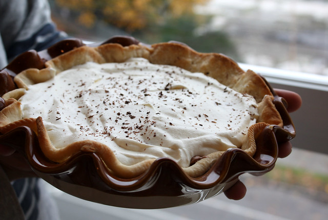 French Silk Pie with Rum Whipped Cream