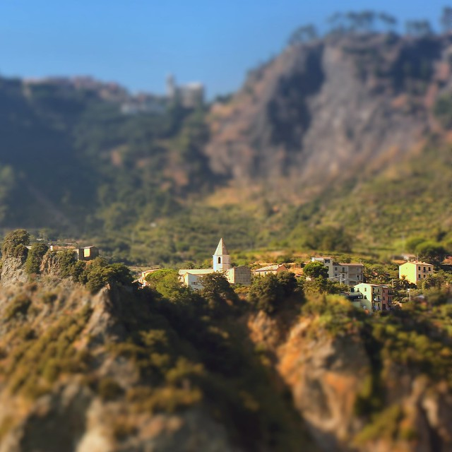 The ancient Roman village Corniglia is situated on an impressive cliff