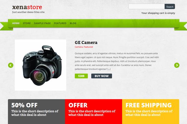 Xenastore - theme miễn phí dành cho plugin Cart66